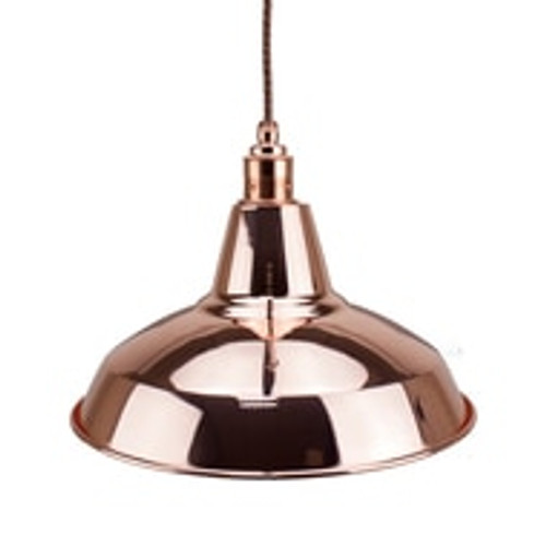 Copper Light Shade 305mm Diameter With 40mm Hole 3981580