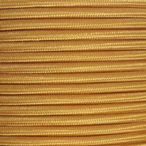Gold Round Fabric Cable 3 Core 4048255