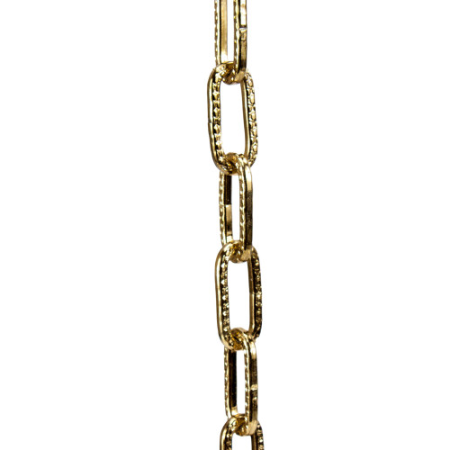 Square Steel Lighting Chain Brass Plated 3582292