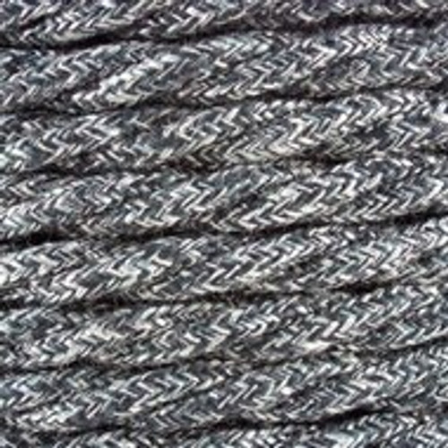 Anthracite Natural Linen Twisted Fabric Cable 3 Core 4200453