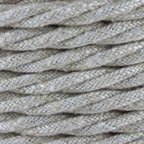 Natural Neutral Linen Twisted Fabric Cable 3 Core 4200452