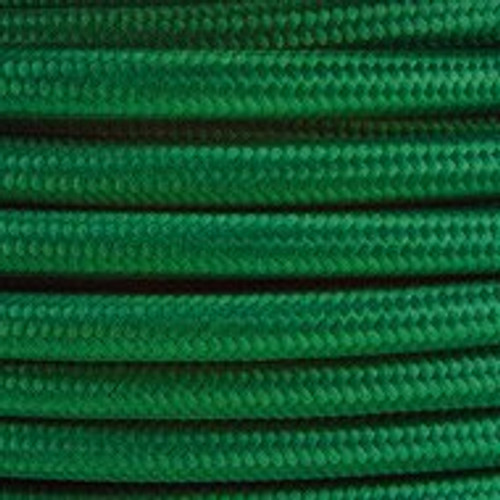 Dark Green Round Fabric Cable 3 Core 4200446