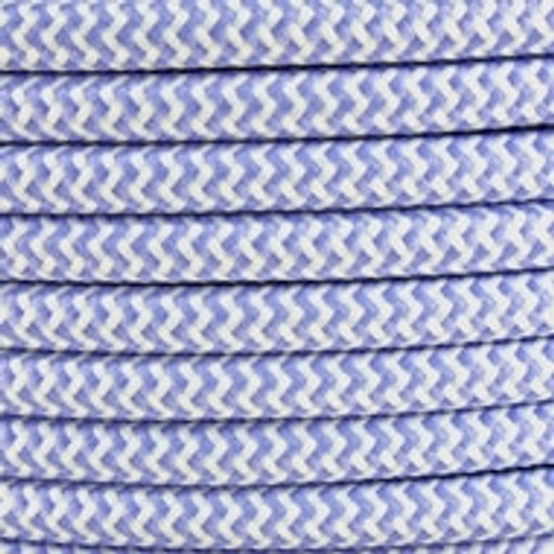 Lilac Herringbone Round Fabric Cable 3 Core 4200439