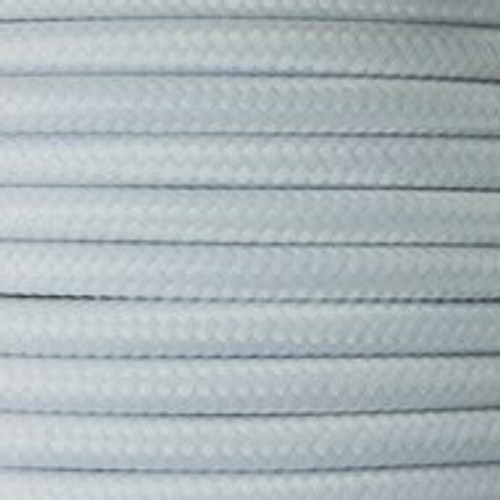 White Round Fabric Cable 3 Core 4295658