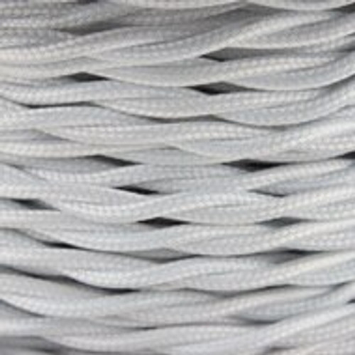 White 2 Core Twisted Braided Cable 4476883