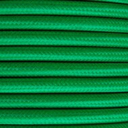 Green Round Fabric Cable 3 Core 4476352