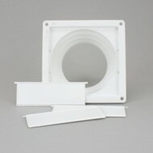 White Tumble Dryer Stepped Wall/Window Vent [VNT4425]