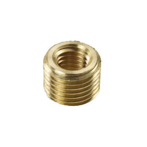 """Brass 10mm to 1/4"""" 27 TPI Headless Reducer 4502070"""