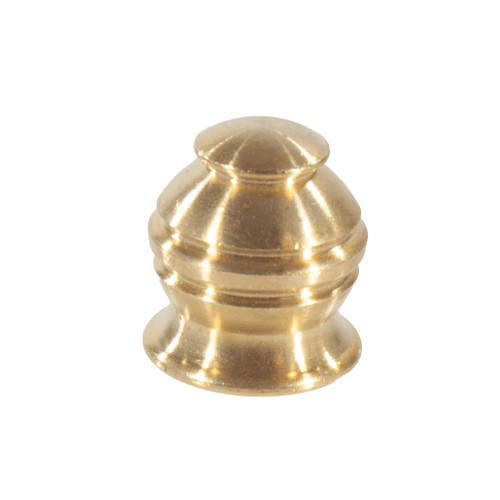 Brass Long Ringed Finial With 10mm Thread 4502064