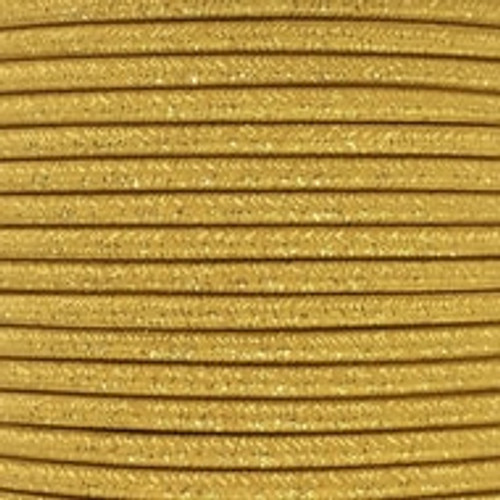 Gold Glitter Round 3 Core Fabric Cable 4545800