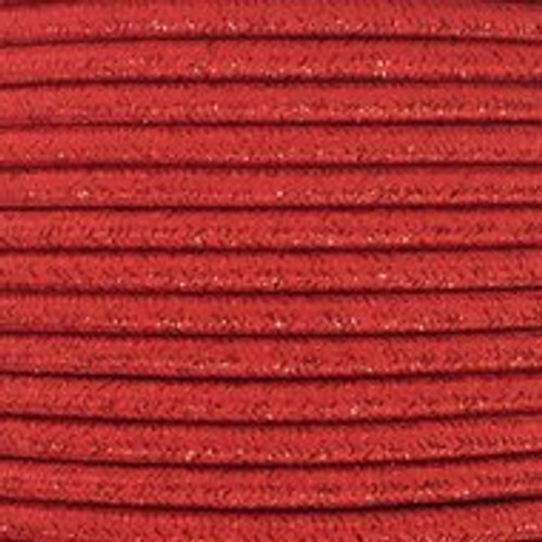 Red Glitter Round 3 Core Fabric Cable 4545798