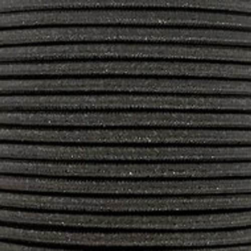 Black Glitter Round 3 Core Fabric Cable 4545797