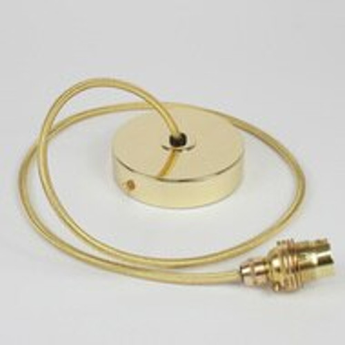 Brass Pendant Kit 1m Cable- Brass Covered Copper 4700398