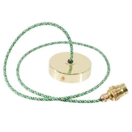 Brass Pendant Kit 1m Cable- Pixel Green 4713363