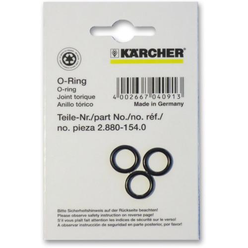 Karcher Professional Pressure Washer O-Ring kit 2.880-154.0