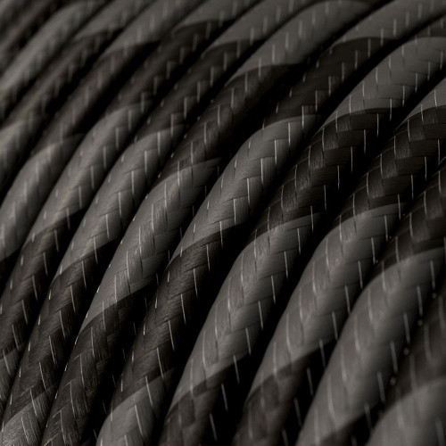 HD Graphite and Black Twist Round Fabric Cable 3 Core 4774537