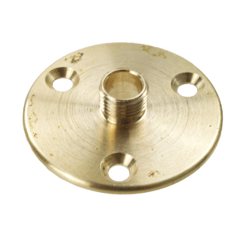 Brass backplate 40mm large with 3 fixing holes 4821243
