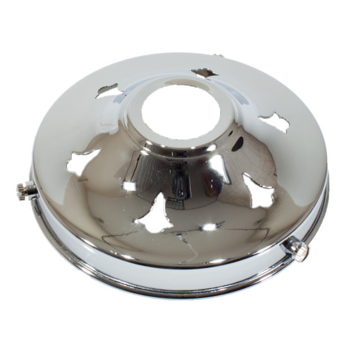 """Chrome 4 1/4"""" Gallery With 28mm Hole 4914331"""