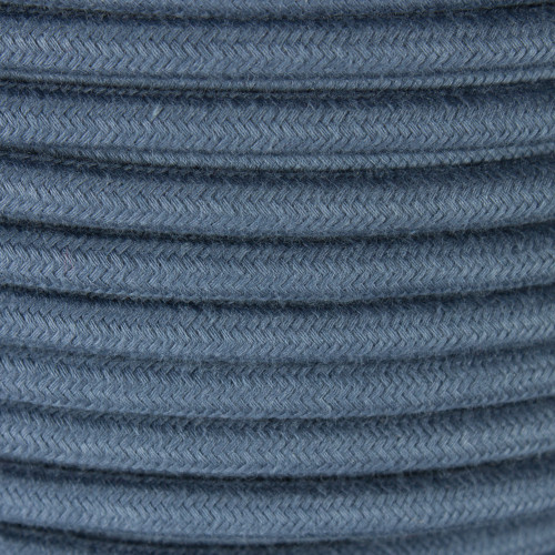 Stone Gray Round Cotton Fabric Cable 3 Core 4987377