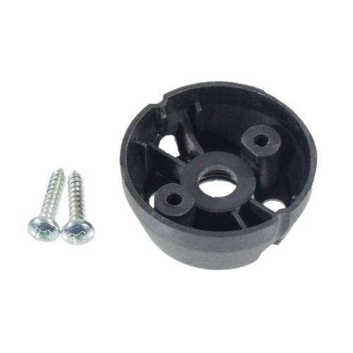 GU10 Lampholder Base Black Plastic With 10mm Thread And Screws 5120251