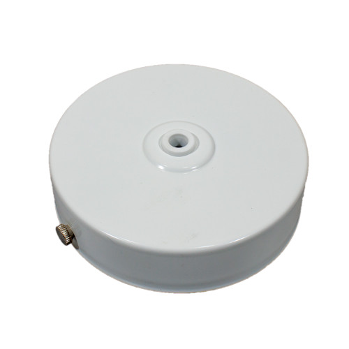 White Ceiling Rose and Bracket 100mm Single Hole PLU46373