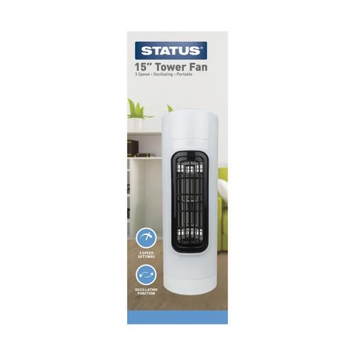 "15"" Tower Fan Oscillating 3 speed 5555408"
