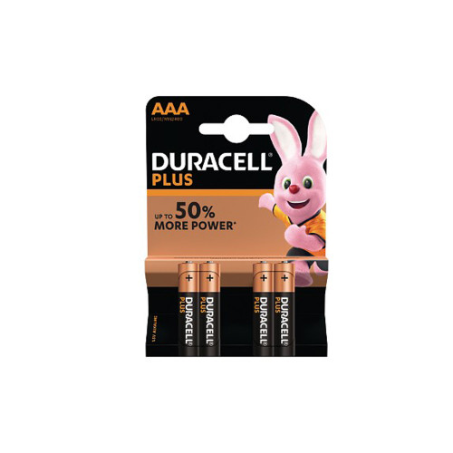 Duracell Plus Power AAA Batteries Pack of 4 4559770