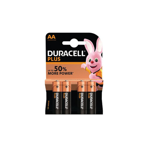 Duracell Plus Power AA Batteries Pack of 4 PLU72915