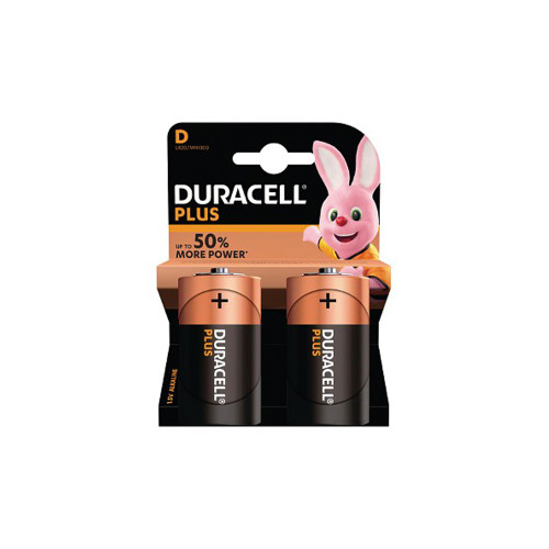 Duracell Plus Power D Batteries Pack of 2 4559770