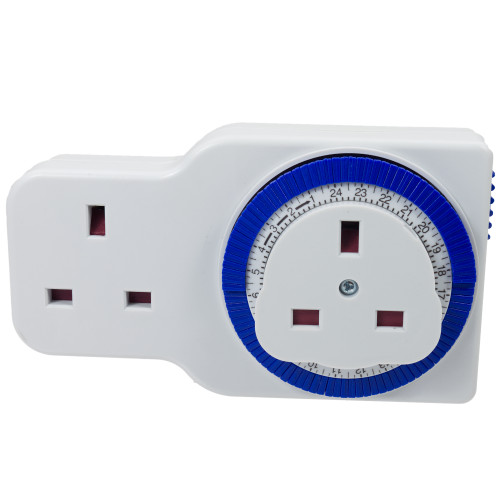 Status 24 Hour Mechanical Timer Switch with Additional Socket 6123283