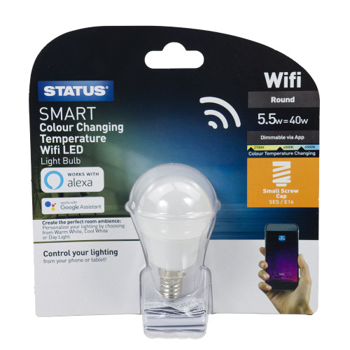 Status Smart Alexa Google Assistant Dimmable 5.5w Cool | Warm | DayLight SES LED Lamp 6123292