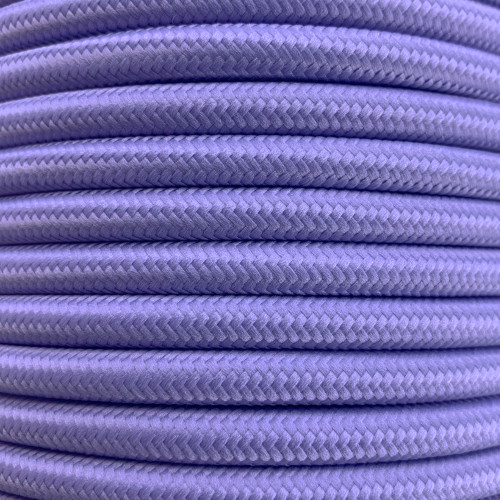 Pastel Purple 3 Core Round Fabric Cable 6411767