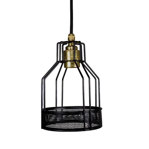 Black Wire Bottleneck Lamp Cage With 10mm Hole 6024173