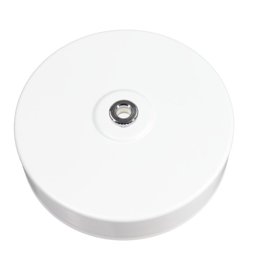 White Ceiling Ceiling Rose with 10mm Holes and Fixing Plate 6602448