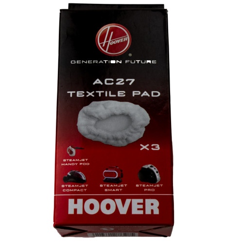 Hoover AC27 Textile Steam Mop Pad (Pack Of 3) HVR35601392
