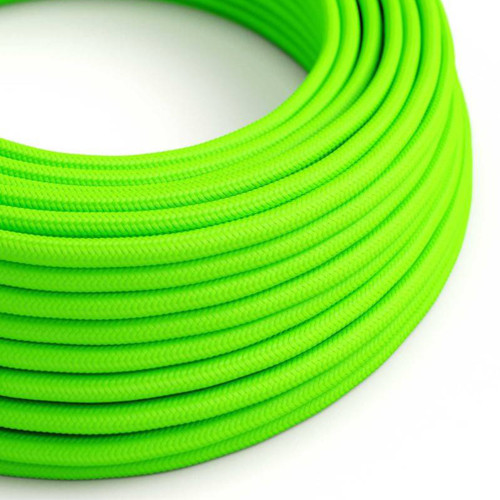 Neon Green 3 Core Round Fabric Cable 6411772
