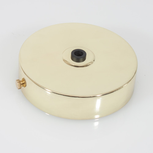 Polished Brass Ceiling Rose and Bracket 100mm [PLU44923]