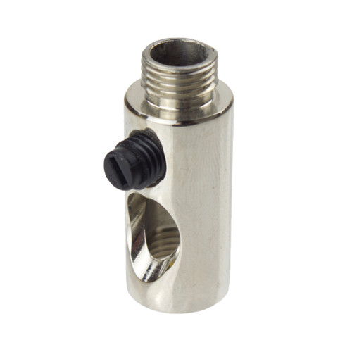 Nickel Side Entry Cord Grip for Side Wiring of a Lampholder 3201N