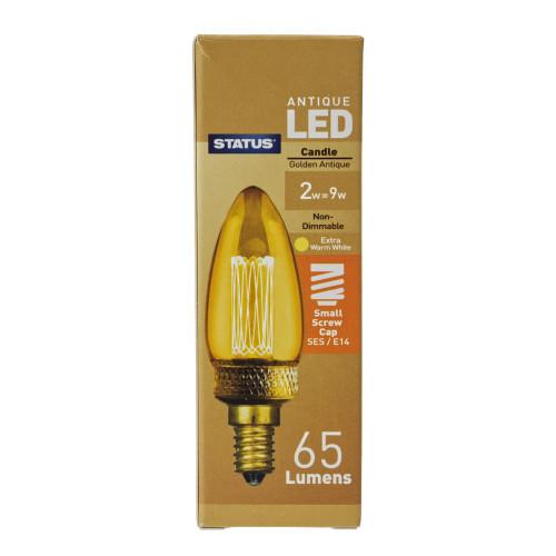 LED SES | E14 Golden Antique Candle 2w 7263790