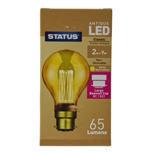 LED BC | B22 Golden Antique GLS 2w 7263793