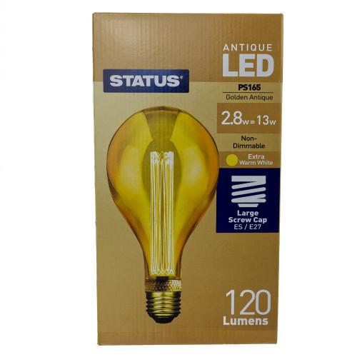 LED ES | E27 Golden Antique PS165 2.8w 7263794