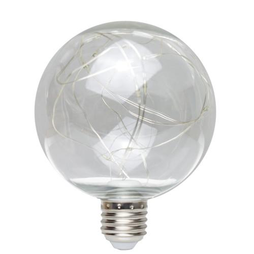 ES | E27 Plastic G95 Globe LED Light - White 7270275