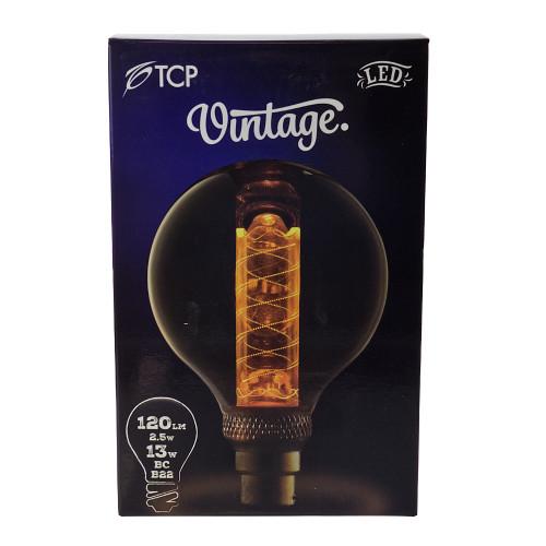 LED BC   B22 Vintage G95 Etched Lamp 7404763