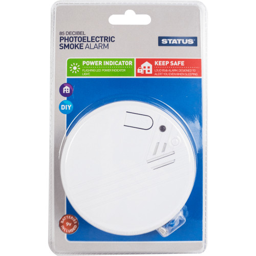 9V battery Powered General Purpose Photoelectric Smoke Alarm 7554812