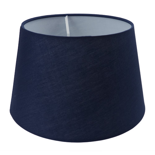 Drum Shade 25cm Tapered Navy Blue