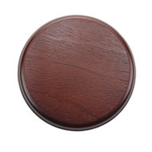 200mm Mahogany Plinth Lamp Base [S7-200 PLU10107]