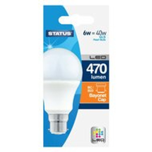 LED BC GLS 6w Status Warm White [PLU17001]