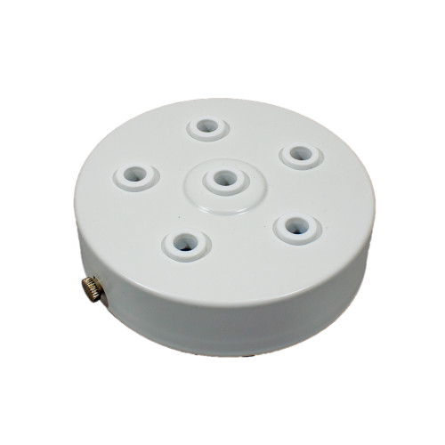 White Ceiling Rose With 5+1 Holes PLU42400