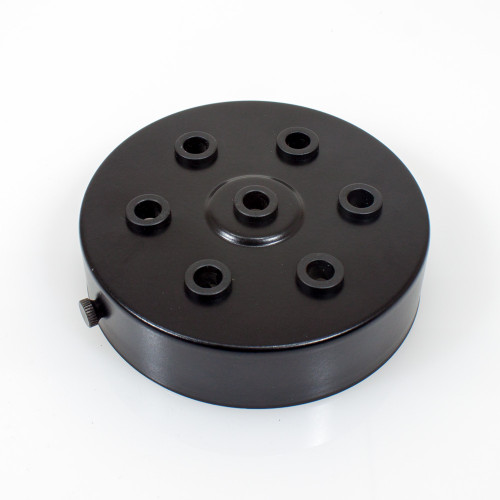 Black Ceiling Rose With 6+1 Holes PLU23047