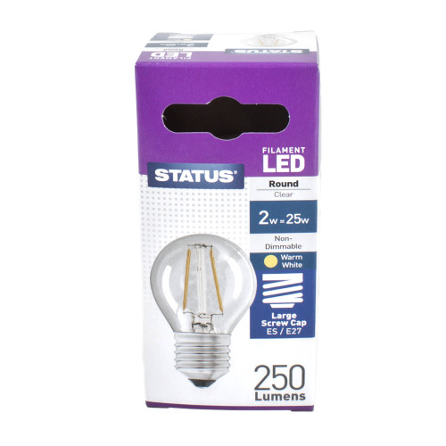LED ES Golf Ball 2w Filament Status [PLU88658]